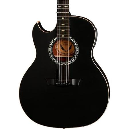 dean exhibition left handed acoustic electric guitar with aphex satin black left handed. Black Bedroom Furniture Sets. Home Design Ideas